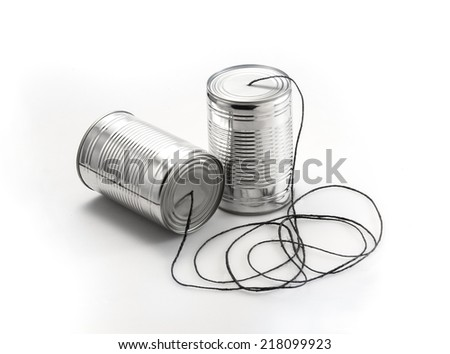 Telephone can - stock photo