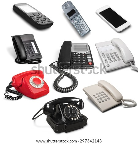 Telephone, Old, Retro Revival. - stock photo