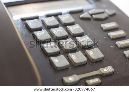 Telephone, Residential Structure, Home Interior. - stock photo