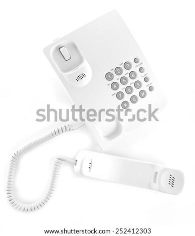 Telephone set isolated on white - stock photo