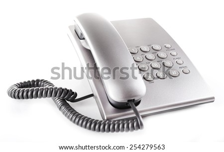 Telephone set isolated on white - stock photo