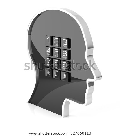 Telephone Support. Isolated On White, 3D rendering - stock photo