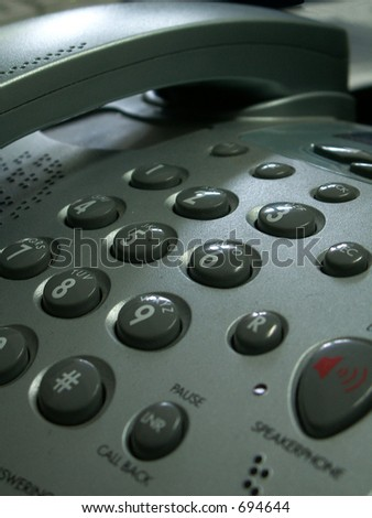 telephone waiting for a call - stock photo
