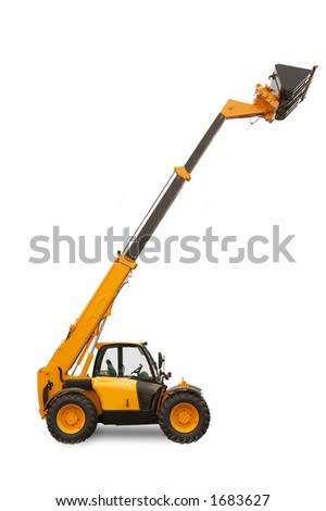 Telescopic Handler - Construction equipment with reach - stock photo