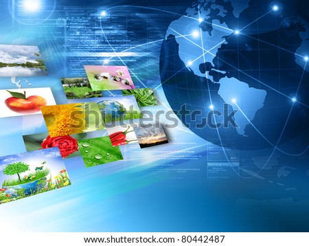 Television and internet production technology concept . Best Internet Concept of global business from concepts series - stock photo