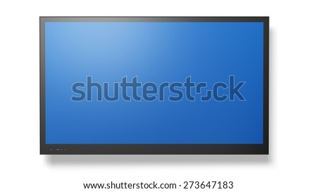 Television. 3D. LCD Television - stock photo