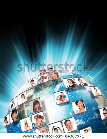 Television, media and internet production technology concept - stock photo