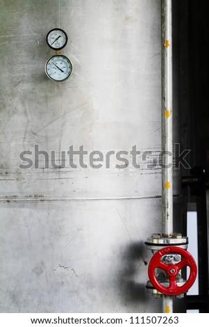 Temperature and pressure gauge - stock photo