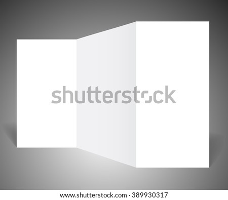 Template booklet, blank paper, raster version - stock photo