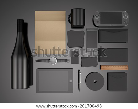 Template for branding identity. For graphic design - stock photo