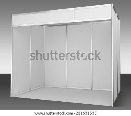 Template for easy presentation of a standard stand - stock photo