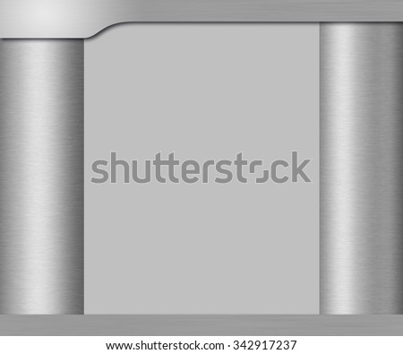 Template  metal background for web design or presentation - stock photo