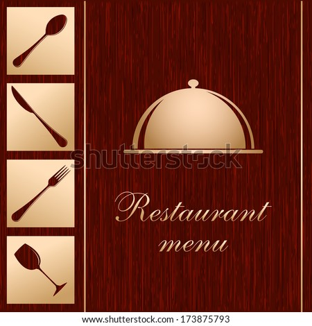 Template of a Restaurant Menu - stock photo