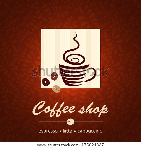 Template of coffee shop - stock photo