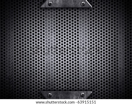 template of metal background - stock photo