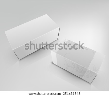 template white box isolated on a white background - stock photo
