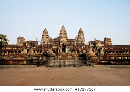 Temple at Angkor Wat, Cambodia - stock photo