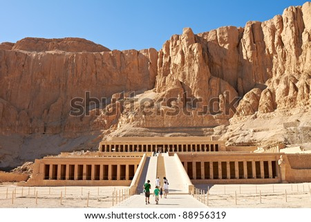 Temple between the Valley of Kings and the Valley of Queens, Luxor, Egypt - stock photo