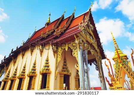 temple complex Wat Plai Laem, Samui island, Thailand - stock photo
