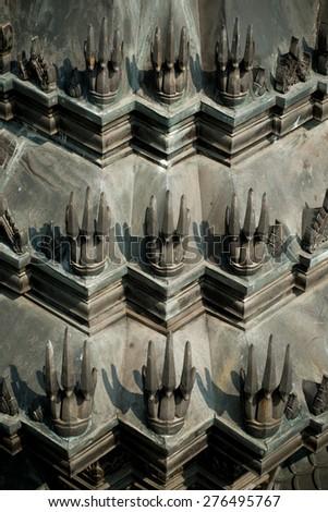 Temple Detail of Wat Ratchanadda in Bangkok, Thailand - stock photo