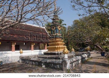 Temple in Luang Prabang - Laos - stock photo