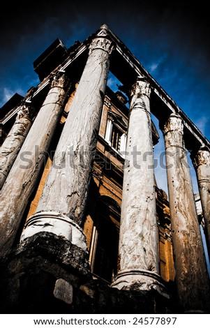Temple of Antonino and Faustina - stock photo