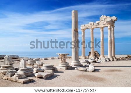 Temple of Apollo ancient ruins - stock photo