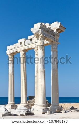 temple of Apollo in Side - stock photo