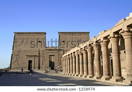 Temple of Philae at Aswan, Egypt - stock photo