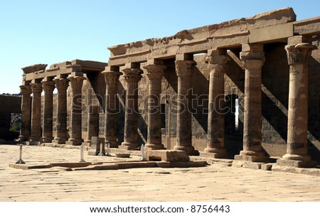 Temple of Philae.(Egypt) - stock photo