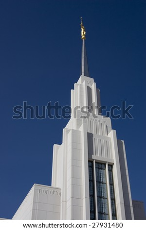 Temple of the Church of Jesus Christ of Latter-day Saints in Twin Falls, Idaho - stock photo