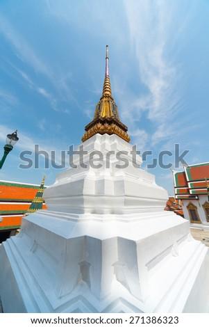 Temple of the Emerald Buddha or Wat Phra Kaew in Bangkok, Thailand - stock photo