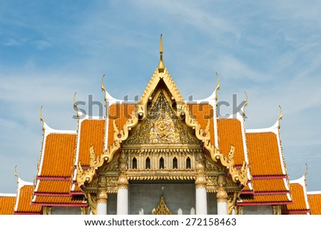Temple Rooftop, in Bangkok Thailand. - stock photo