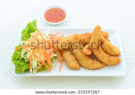 tempura Chicken 2 - stock photo