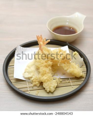 tempura, Japanese food, seafood - stock photo