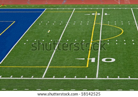 Ten and Goal Football Field - stock photo