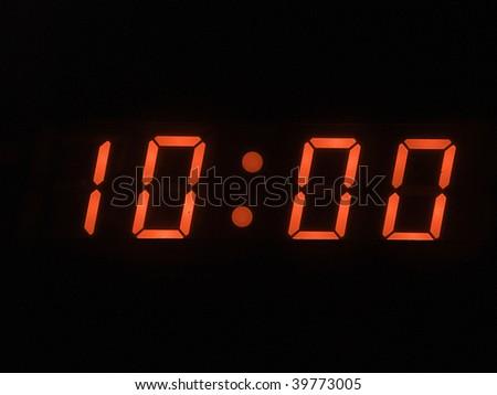 ten o clock am - stock photo