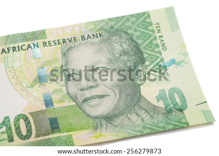 Ten South African Rand isolated  - stock photo
