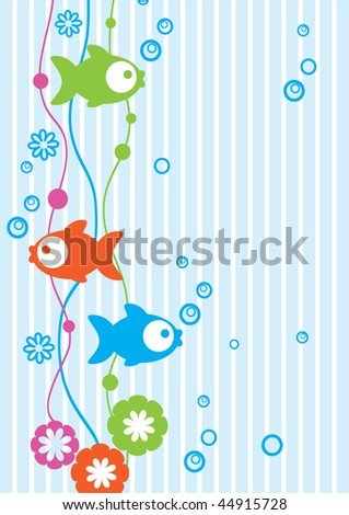 Tender background with fish - stock photo
