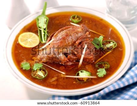 Tender Beef Nihari - stock photo