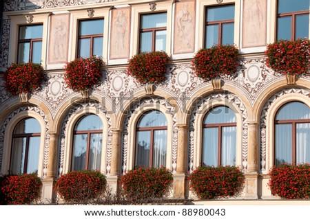 tenement window - stock photo