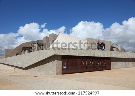 TENERIFE, SPAIN - MAR 10: MAGMA - the futuristic Convention Center in Las Americas. March 10, 2011 in Las Americas, Canary Island Tenerife, Spain  - stock photo
