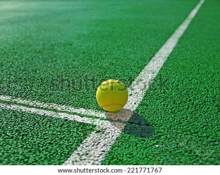 Tennis ball         - stock photo