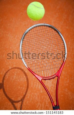 tennis ball bounce - stock photo