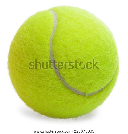 Tennis Ball isolated on the white background - stock photo