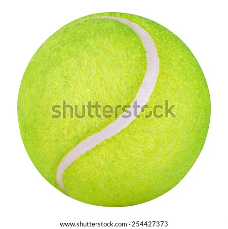 Tennis Ball isolated on white background. Clipping Path - stock photo