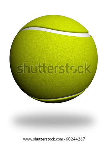 Tennis ball isolated on white. 3d render background for design. High quality +20 megapixel - stock photo