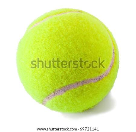 Tennis ball on the white background - stock photo
