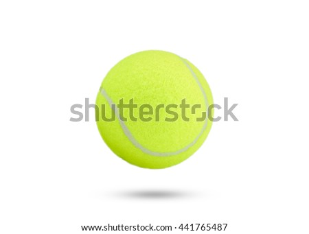 tennis ball on white background. tennis ball isolated. green color tennis ball.  - stock photo