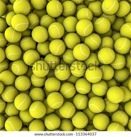 Tennis balls background - stock photo